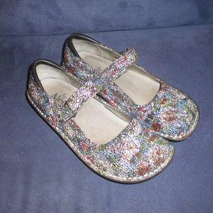 Alegria Mary Jane Multi Color Shoes sz 36